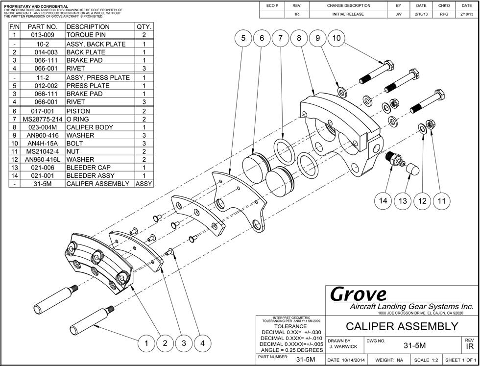 31 5m Brake Caliper Assembly
