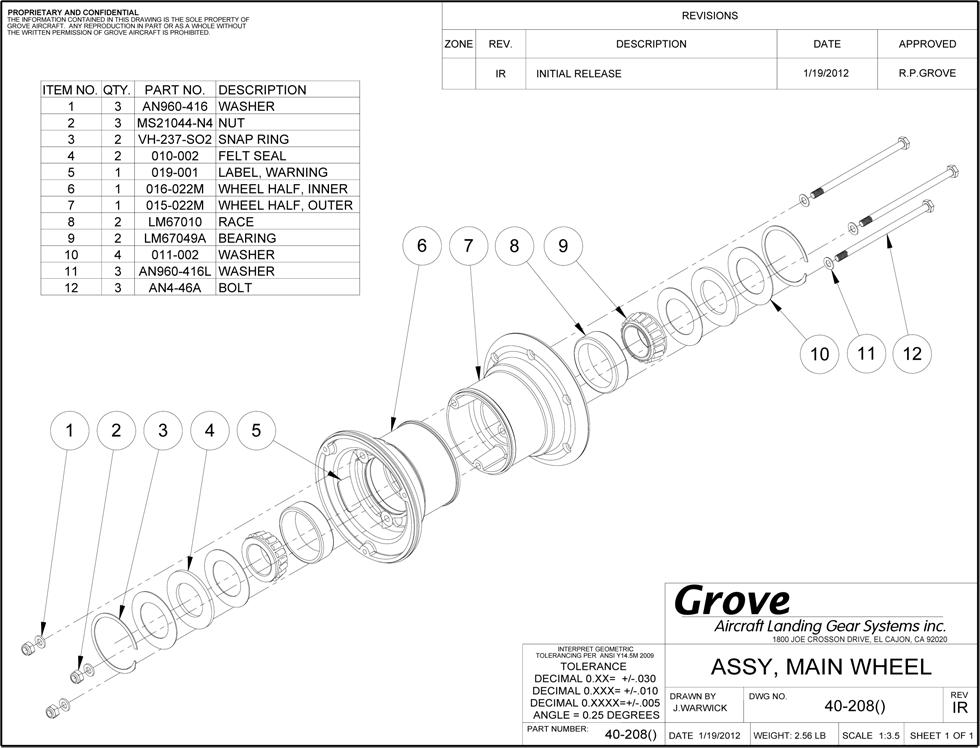 40 208 Mail Wheel Drawing