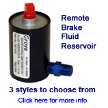 aircraft remote brake fluid reservoir
